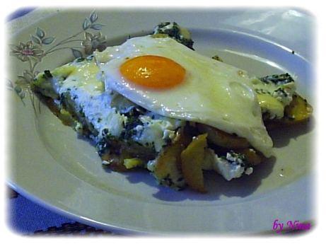 Krumpir s špinatom i jajem na oko