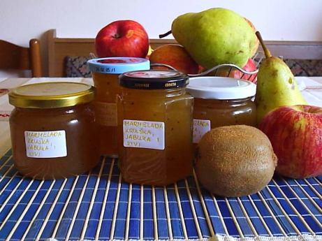 Marmelada od jabuke kruške i kivija