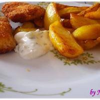 Pohana piletina marinirana u mlijeku s domaćim krumpirićima