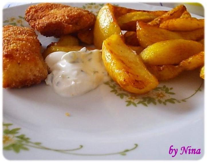 Piletina marinirana u mlijeku s domaćim krumpirićima